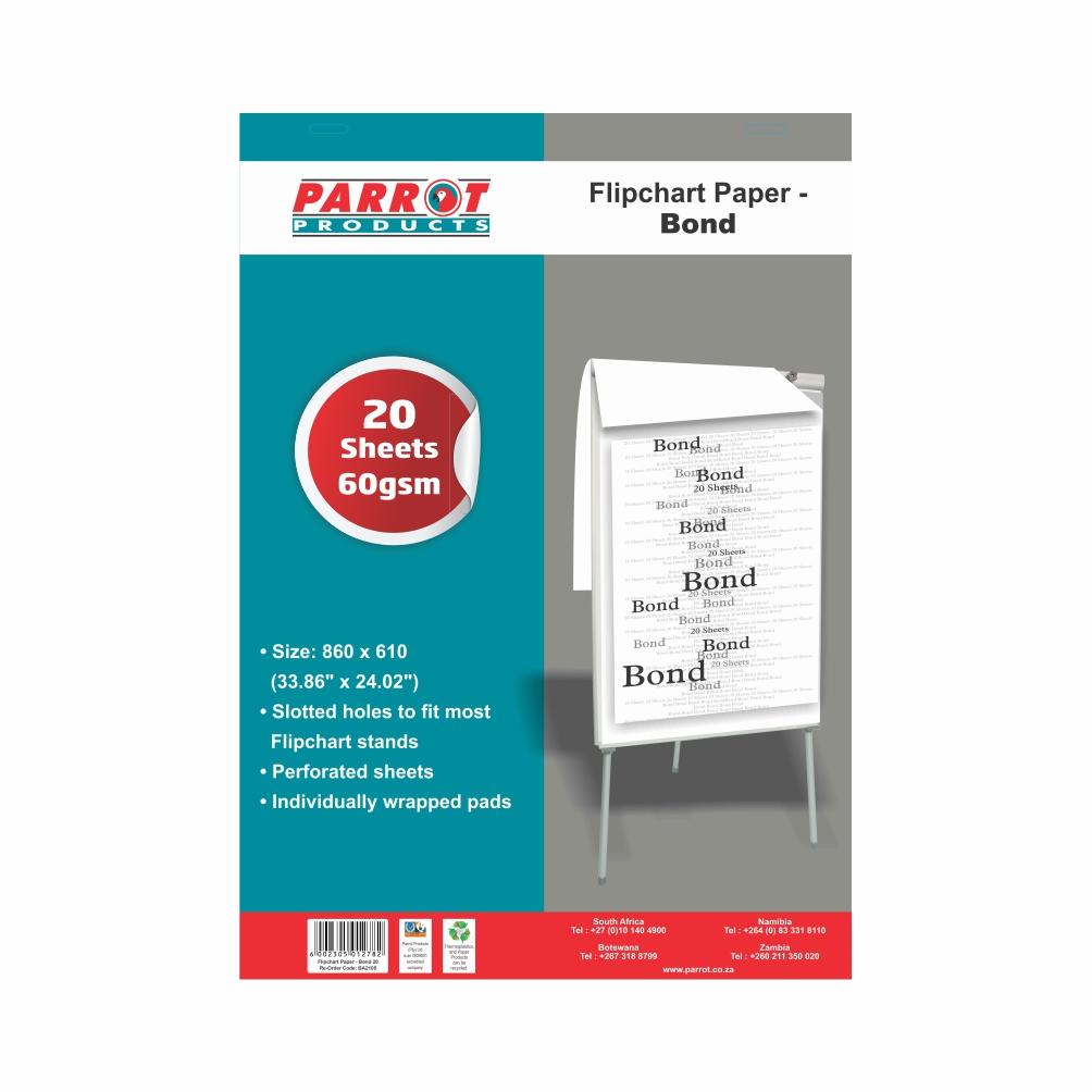 Flipchart Paper Bond (20 Sheets, 860*610mm)