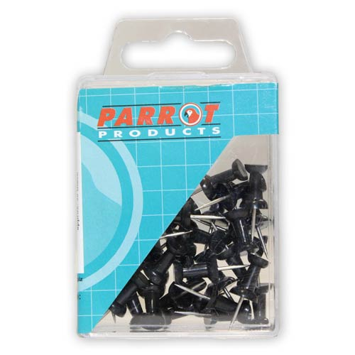Push Pins (Boxed 25, Black)