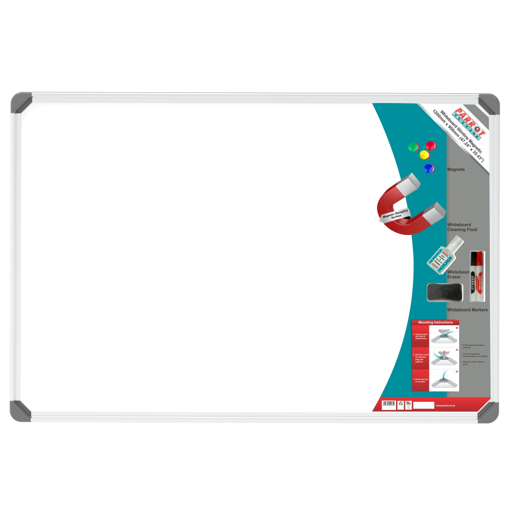 Slimline Magnetic Whiteboard (1200*900mm, Retail)