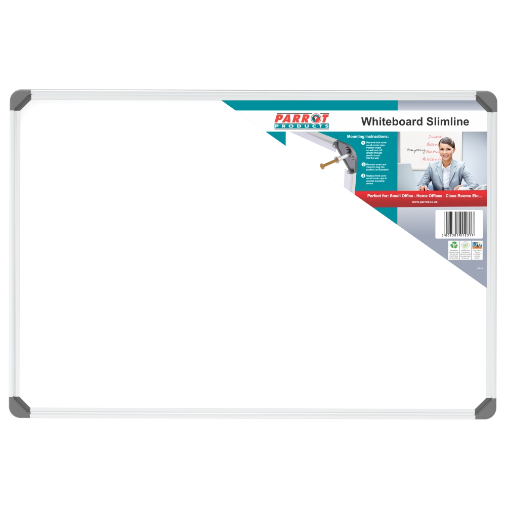 Slimline Non-Magnetic Whiteboard (900*600mm)