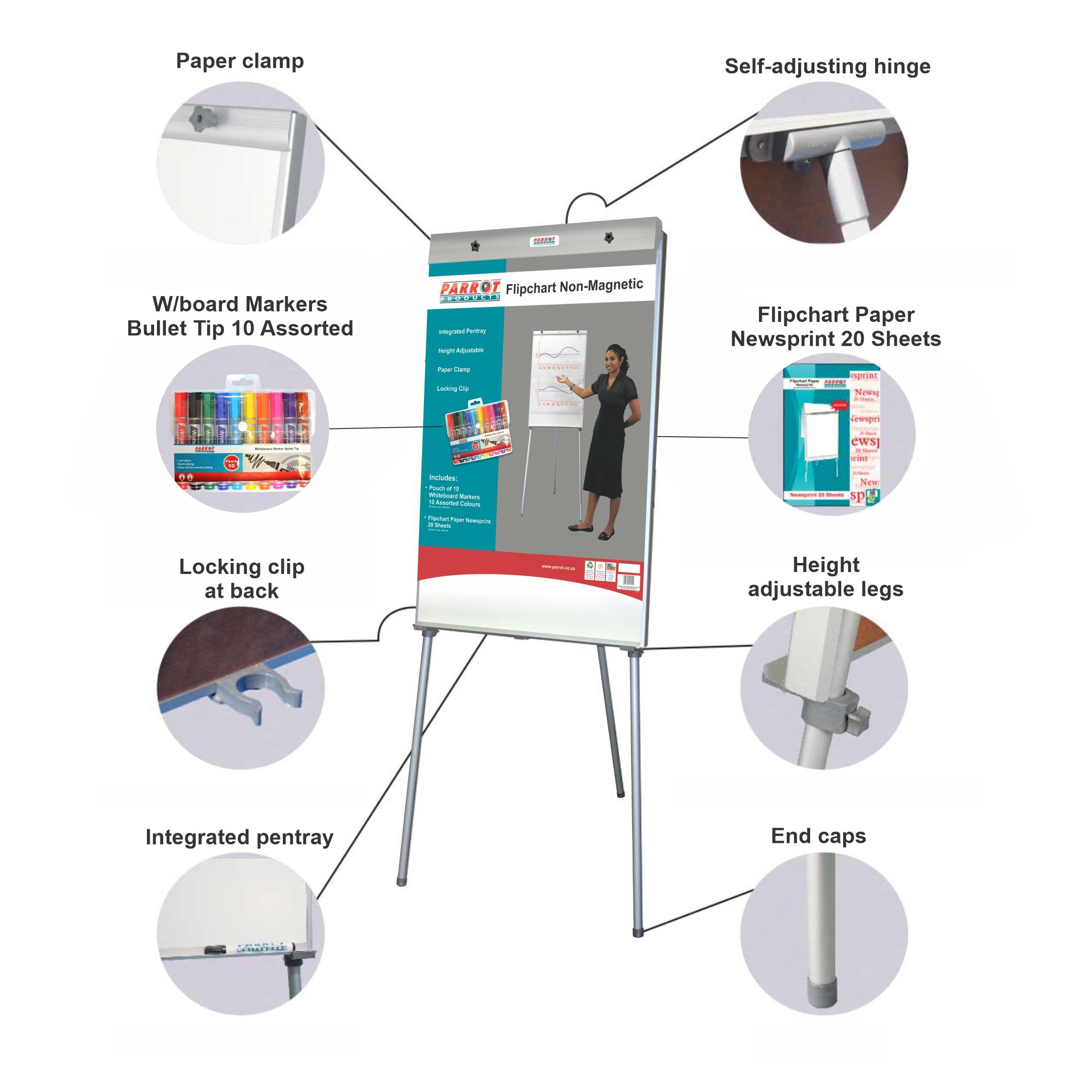 Flipchart Non-Magnetic Standard (1000*640mm, Retail)