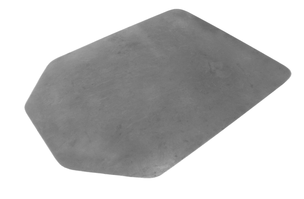 Carpet Protector (Non Slip, Silver, Tapered Rectangle 1200x900x2.75mm)