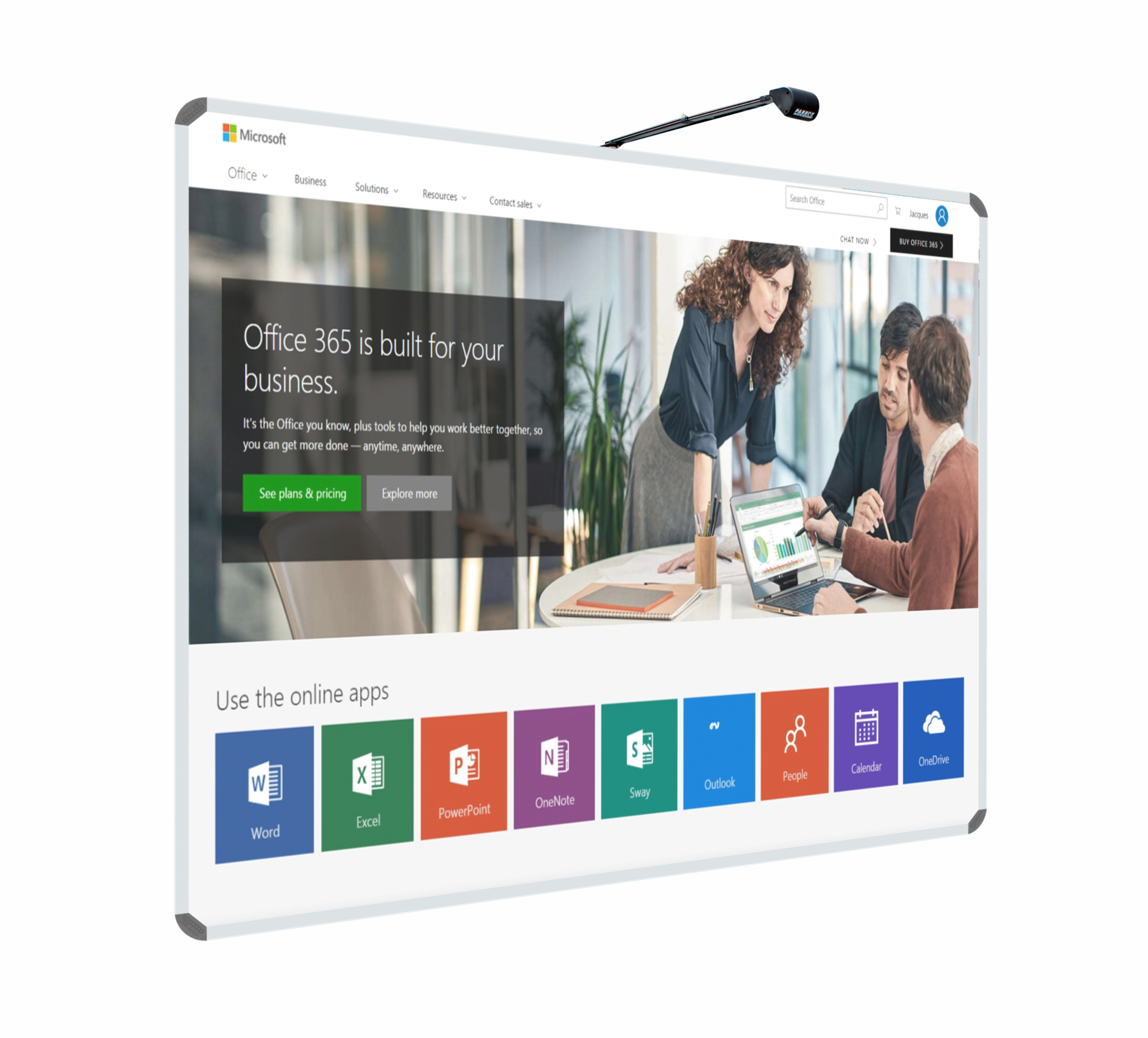 Ultra Short Focus Interactive Whiteboard System
