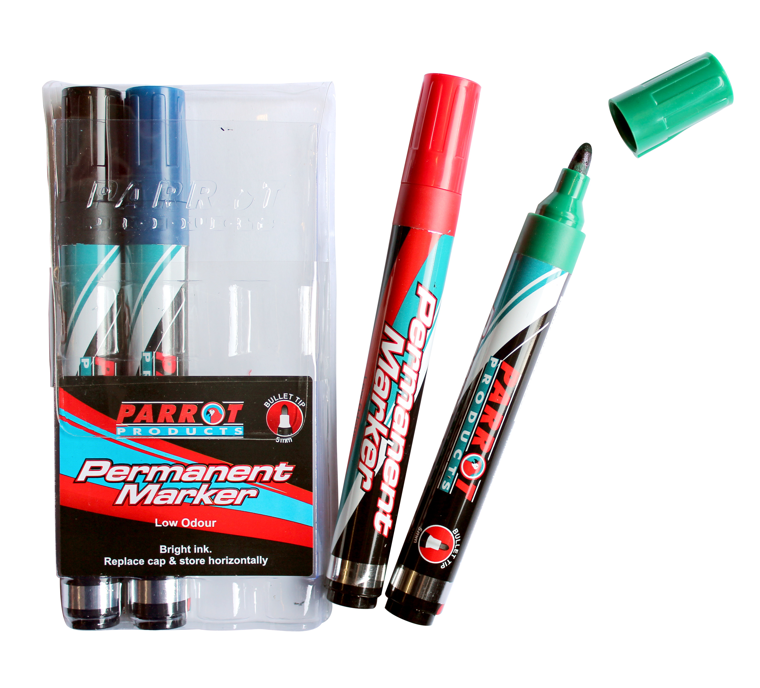 Permanent Markers (Pouch 4, Bullet Tip)