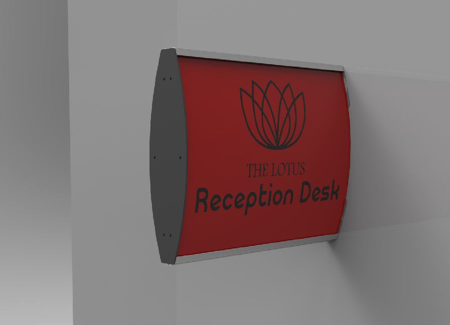 Sign Frame (100x300mm, Double Sided, Wall Mounted)