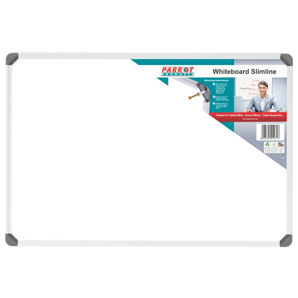 Slimline Non-Magnetic Whiteboard (900*600mm)