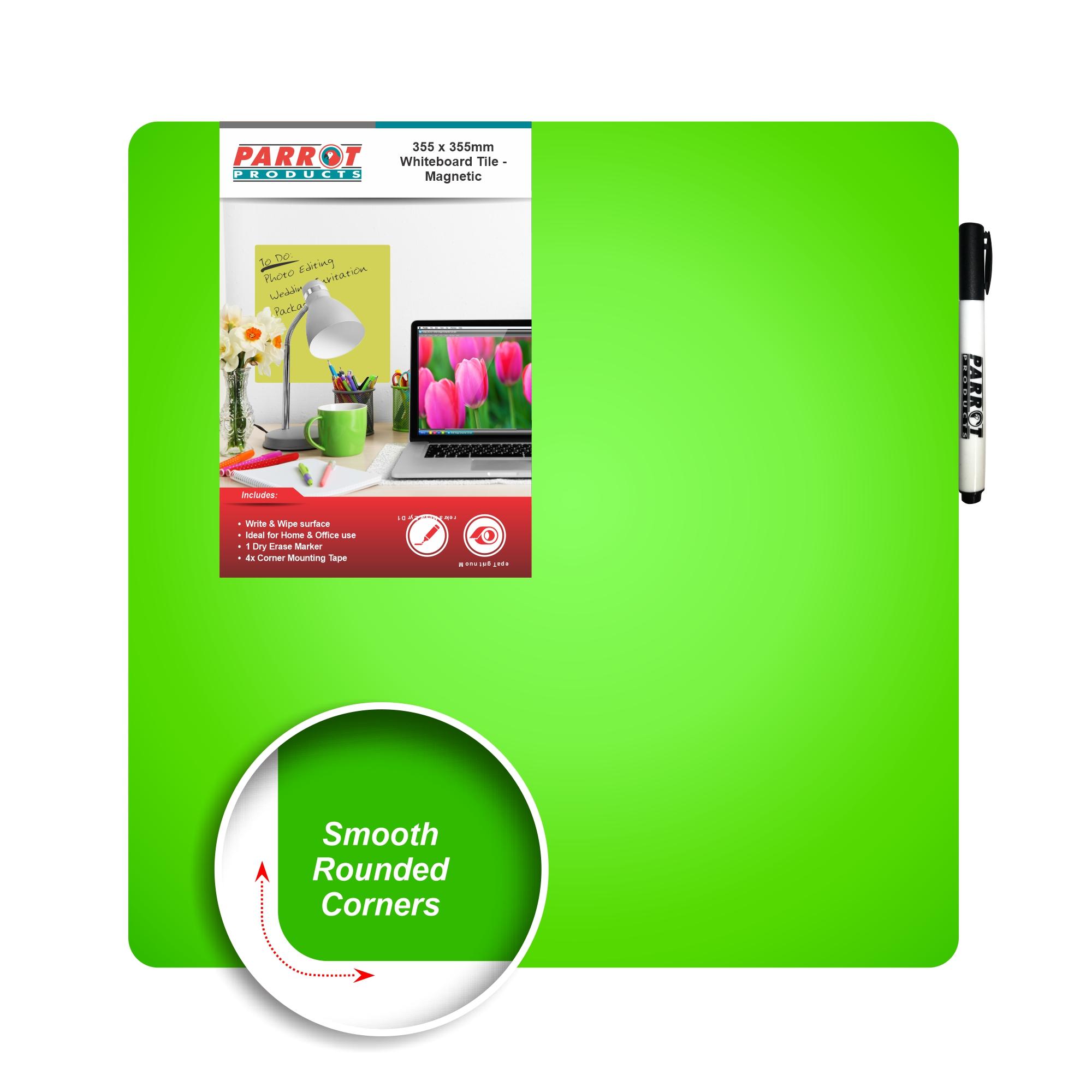 Magnetic Whiteboard Tile (355*355mm, Green)