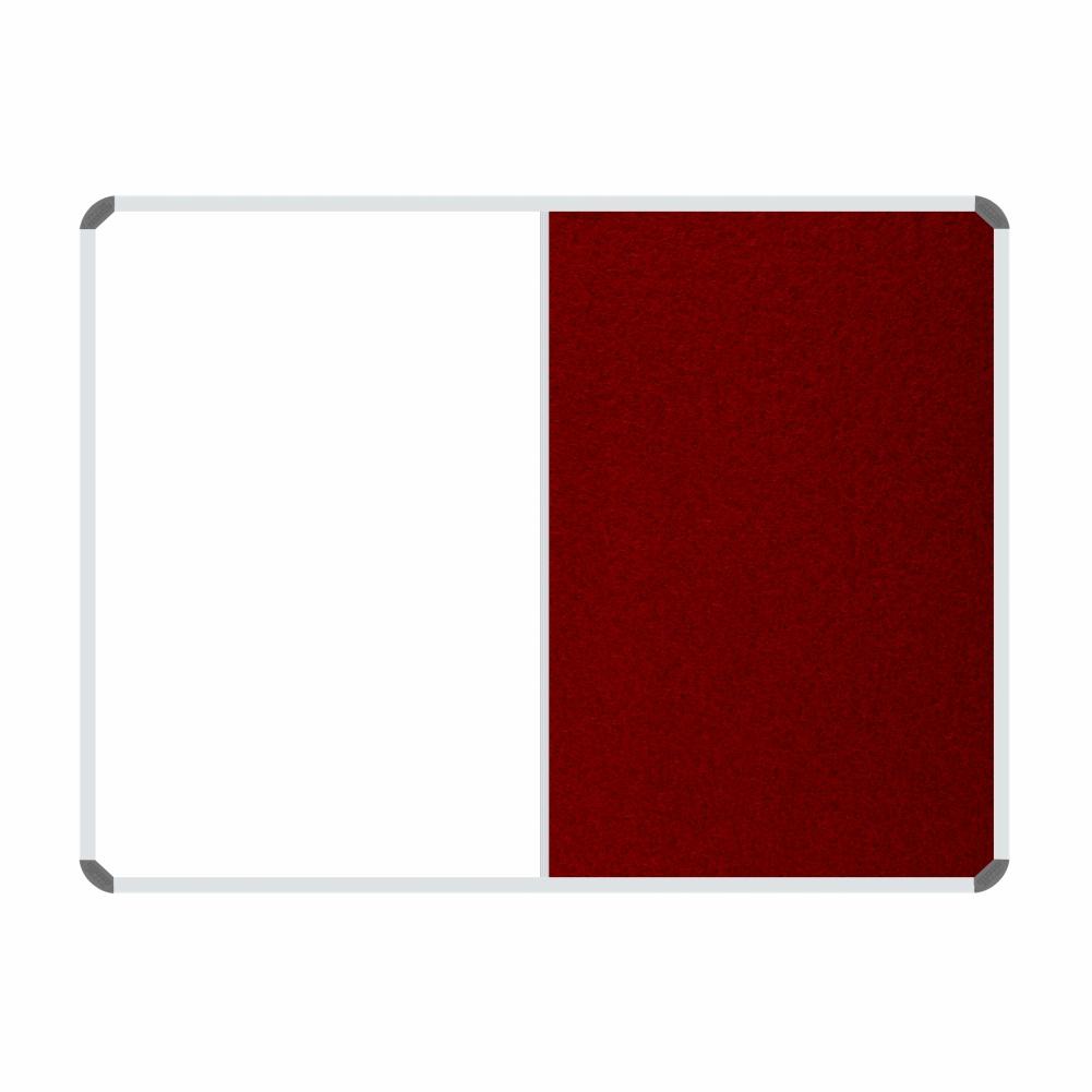 Non-Magnetic Combination Whiteboard (1200*900mm, Burgandy Felt)