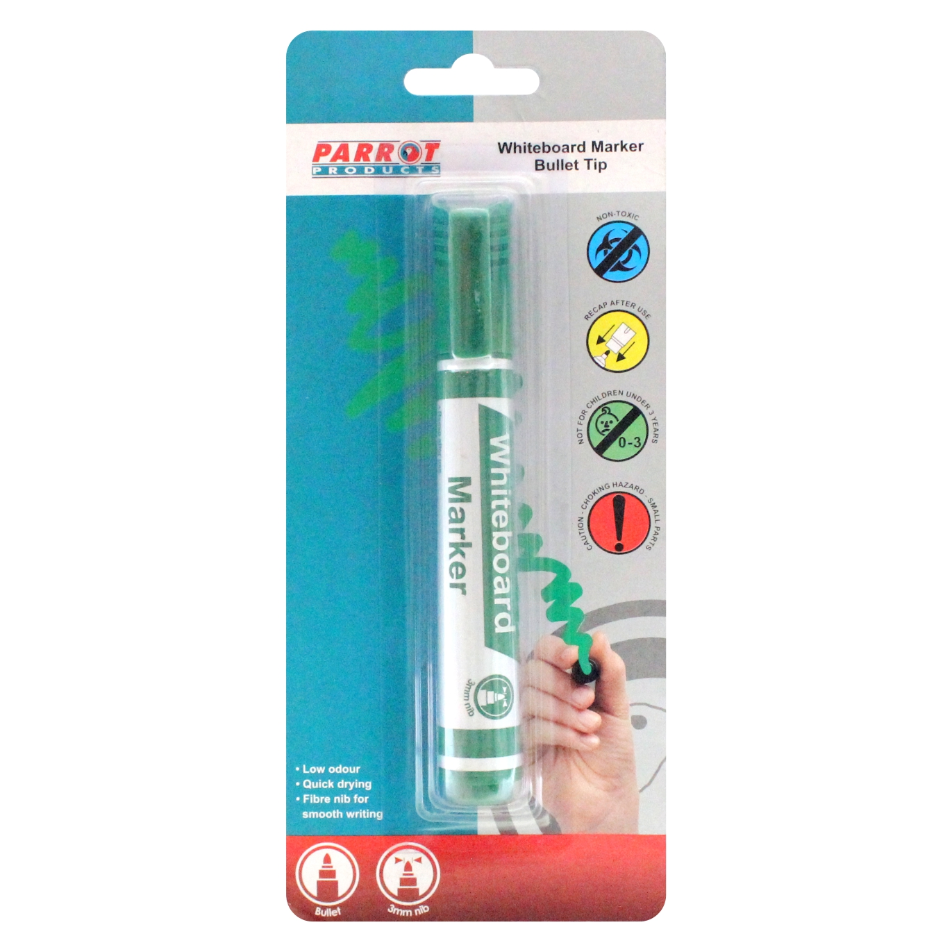 Whiteboard Marker (Bullet Tip, Carded, Green