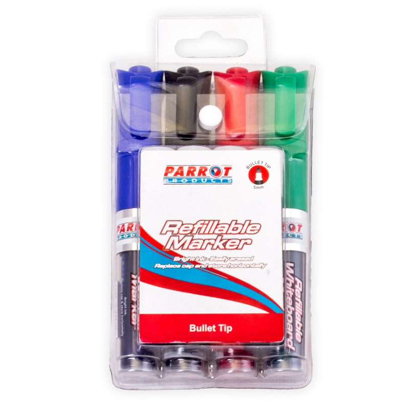 Refillable Whiteboard Markers (Pouch 4)