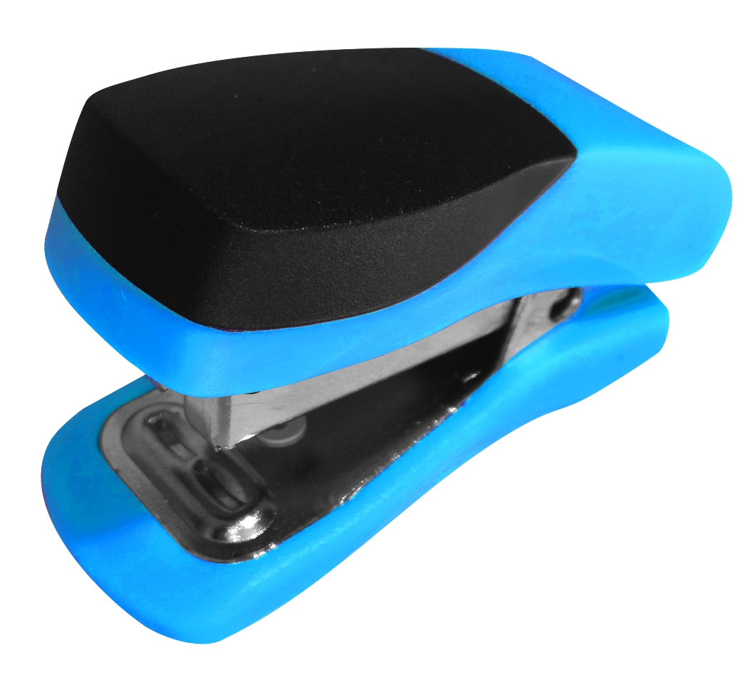 Single Mini Blue Plastic Stapler