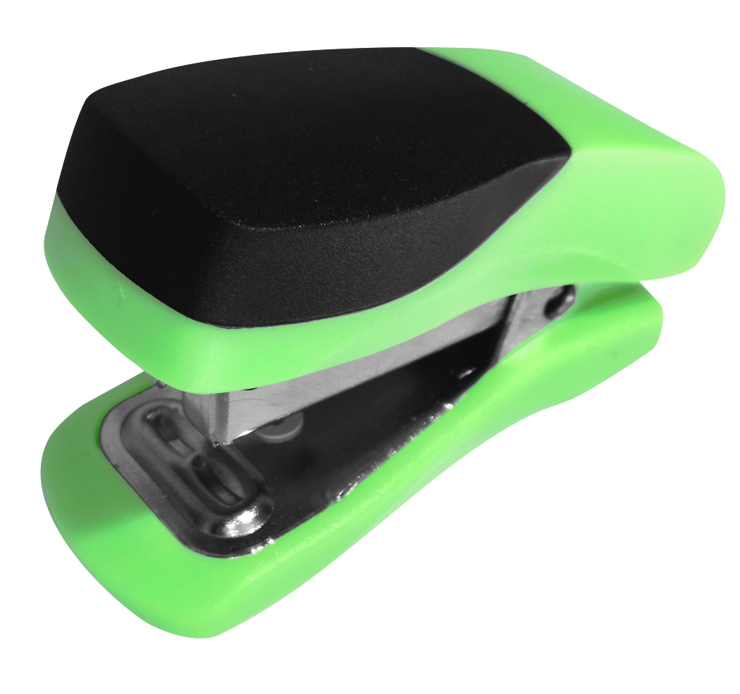 Single Mini Green Plastic Stapler