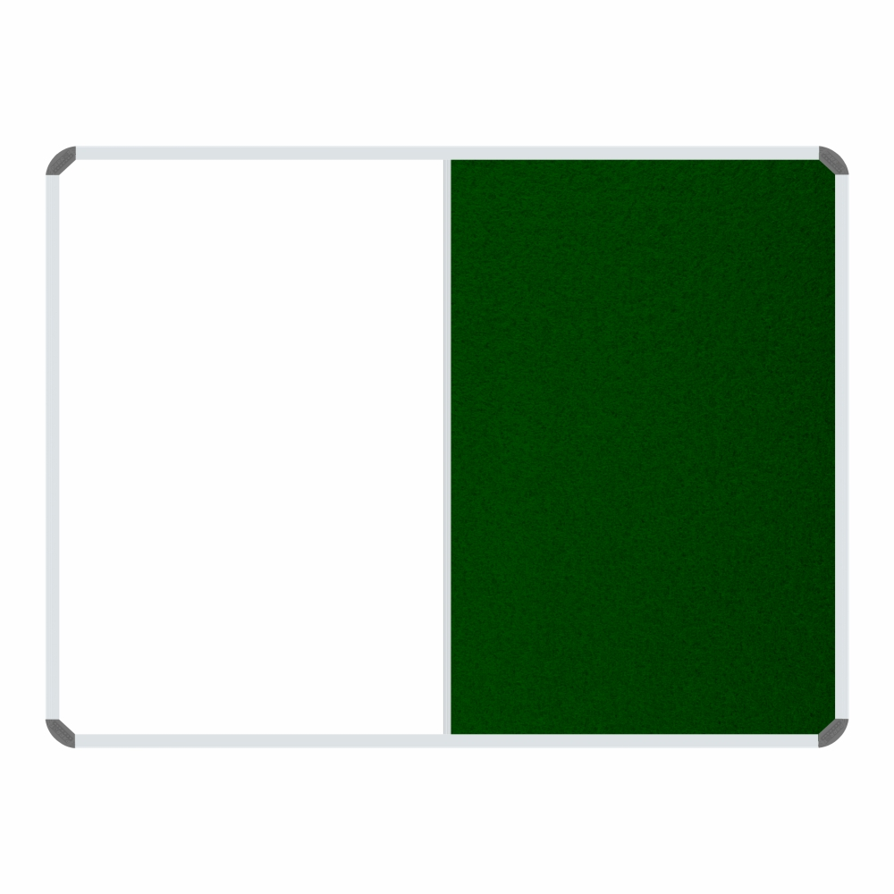 Non-Magnetic Combination Whiteboard (1200*900mm, Green Felt)