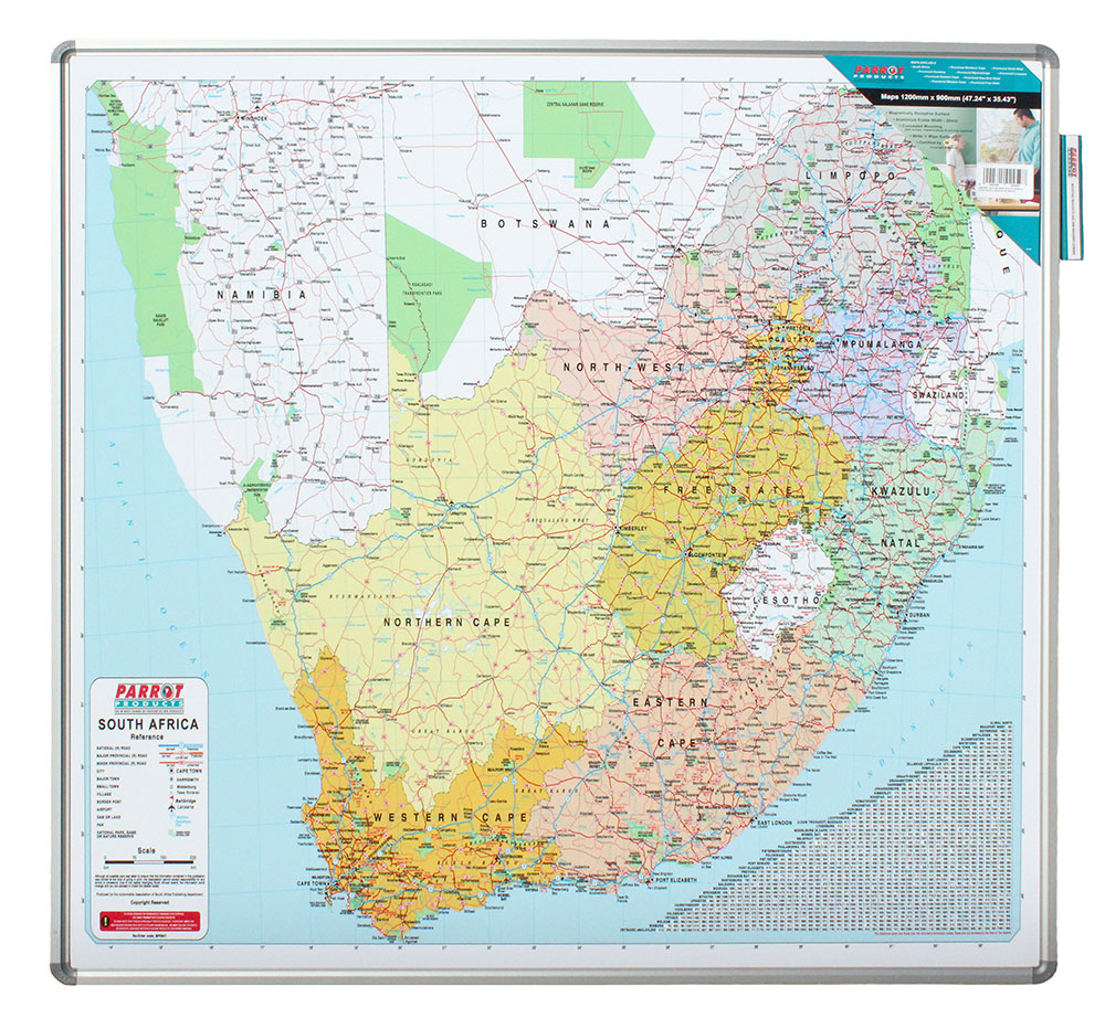 Map Board - South Africa (1230*1230mm, Magnetic White)