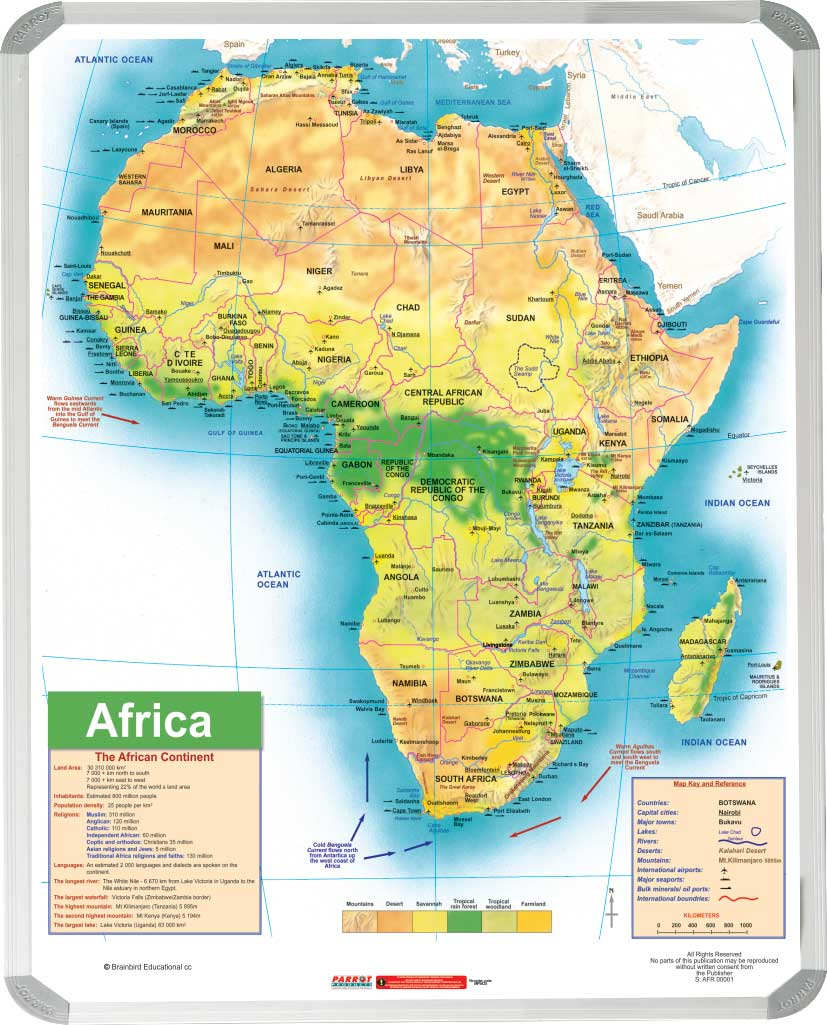 Africa General Educational Map (1200*900mm)