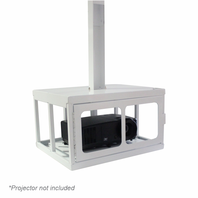 Data Projector Ceiling Mounting Bracket (Lockable Security Cage, 450x220x340mm)