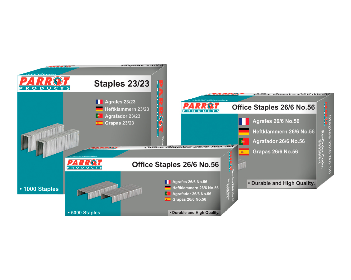 Staples (Staple Size: 26/6, No.56, Box of 5000, 30 Pages)