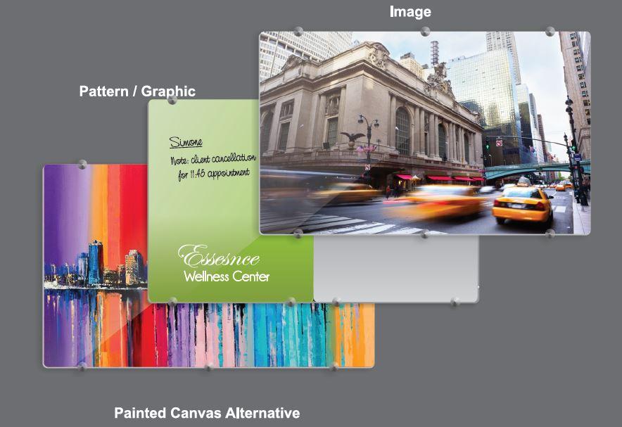 Glass Board Designer Series Magnetic Custom Printed (1200x1200mm)